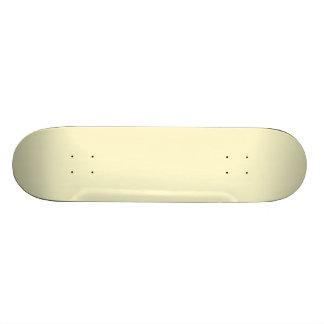 Pastel Lemon Yellow Pale Soft Meringue Yellow Skate Board