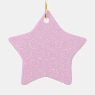 Pastel Light Pink Circles Pattern Christmas Ornaments