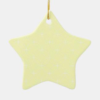 Pastel Light Yellow Circles Pattern Ornament