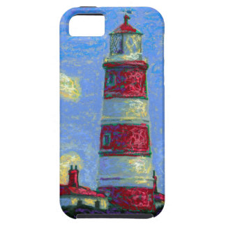 Pastel Lighthouse and Lavender Fields Case For The iPhone 5