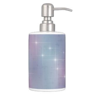 Pastel Lights Soap Dispenser And Toothbrush Holder