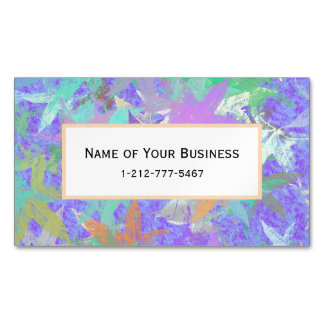 Pastel Lilac Autumn Maple Leaves Magnetic Business Cards