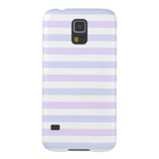 Pastel Lilac, Blue and White Stripes Case For Galaxy S5