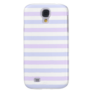 Pastel Lilac, Blue and White Stripes Galaxy S4 Case