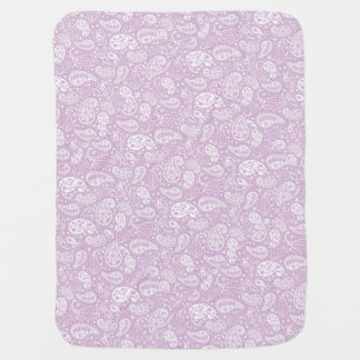 Pastel Lilac Spring Paisely Receiving Blankets