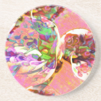 pastel,lilies,rainbows,love,romance,bouquet,buds,f drink coaster