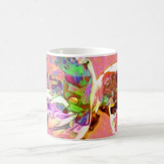 pastel,lilies,rainbows,love,romance,bouquet,buds,f basic white mug