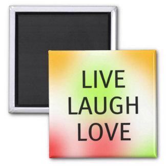 Pastel Live, Laugh, Love Square Magnet
