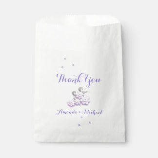 Pastel love birds wedding favor bags favour bags