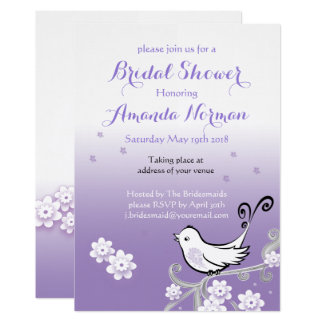 Pastel lovebirds wedding Bridal Shower invite