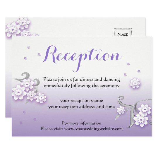 Pastel lovebirds wedding custom Reception card