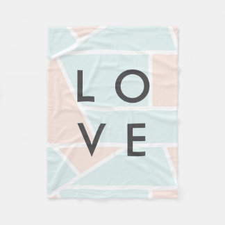 Pastel M Fleece Blanket