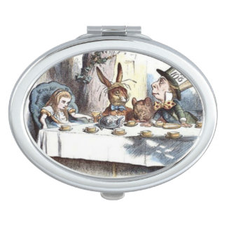Pastel Mad Hatters Tea Party Compact Vanity Mirror