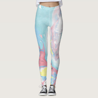 Pastel Marble Leggings