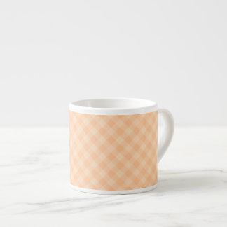 Pastel Melon Tartan Espresso Cup