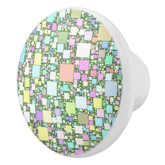 Pastel Mini Box Artwork Design Ceramic Knob