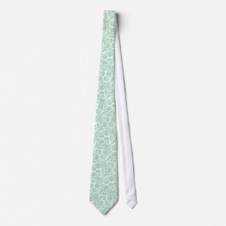 Pastel Mint-Green 11 Vintage Floral Damasks Tie