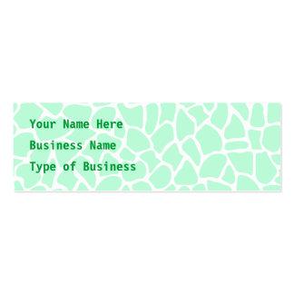 Pastel Mint Green Animal Print Giraffe Pattern Pack Of Skinny Business Cards