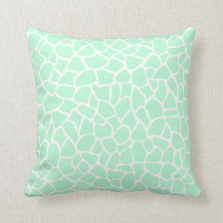 Pastel Mint Green Animal Print Giraffe Pattern