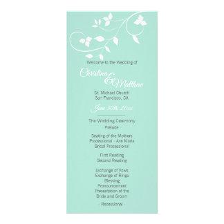 Pastel Mint Green & Light Grey Wedding Ceremony Rack Card