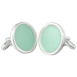 Pastel Mint Green Trendy Colors Cufflinks