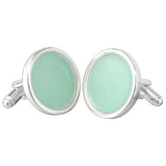 Pastel Mint Green Trendy Colors Cufflinks
