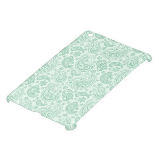 Pastel Mint Green Vintage Floral Paisley Pattern Case For The iPad Mini