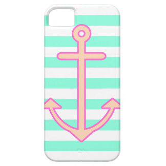 Pastel Mint Nautical Anchor Barely There iPhone 5 Case