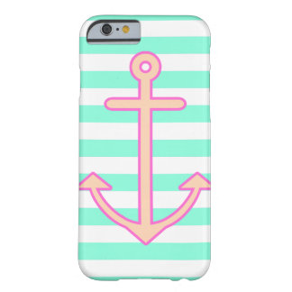 Pastel Mint Nautical Anchor Barely There iPhone 6 Case