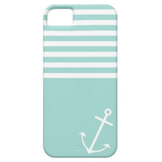 Pastel Mint Nautical Barely There iPhone 5 Case