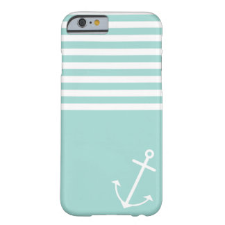 Pastel Mint Nautical Barely There iPhone 6 Case