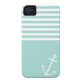 Pastel Mint Nautical iPhone 4 Case-Mate Case