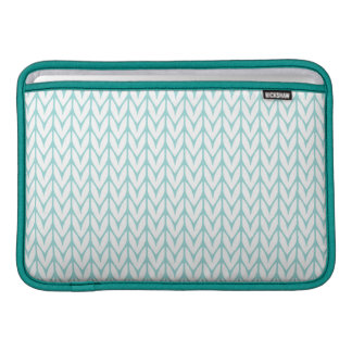 Pastel Mint Yarn Chevrons Knit Pattern Sleeve For MacBook Air