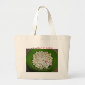 Pastel Mints, Go Green In Colors Jumbo Tote Bag