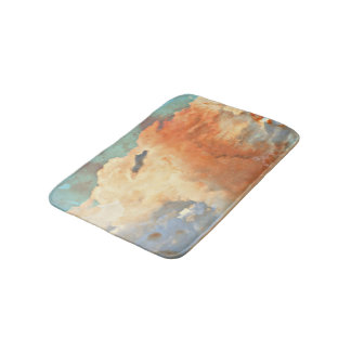 Pastel Monsoon Clouds Bathroom Mat