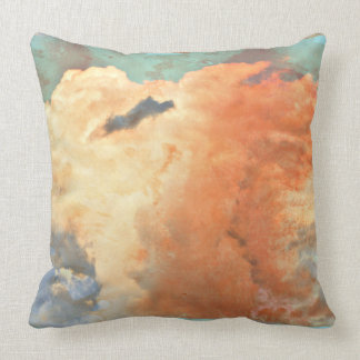 Pastel Monsoon Clouds Throw Pillow