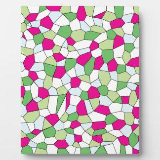 Pastel Mosaic Plaque
