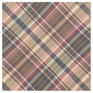 Pastel multicolor plaid fabric
