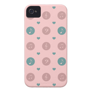 Pastel Music Notes iPhone 4 Cases