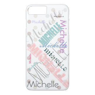 Pastel Name Polka Dot iPhone 7 Plus Case