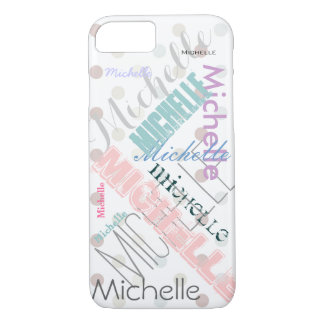 Pastel Name Polka Dot iPhone 8/7 Case
