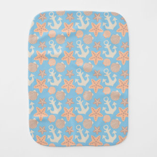 Pastel Nautical Pattern Burp Cloth