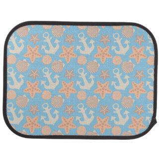 Pastel Nautical Pattern Car Mat