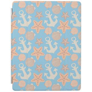 Pastel Nautical Pattern iPad Cover