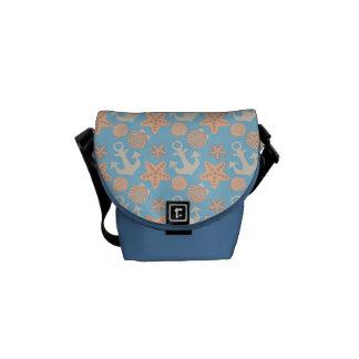 Pastel Nautical Pattern Messenger Bag