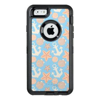 Pastel Nautical Pattern OtterBox Defender iPhone Case