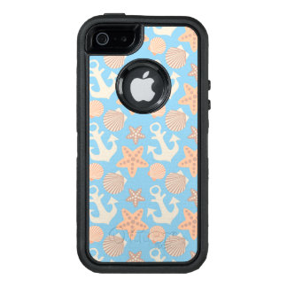 Pastel Nautical Pattern OtterBox Defender iPhone Case