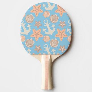 Pastel Nautical Pattern Ping Pong Paddle