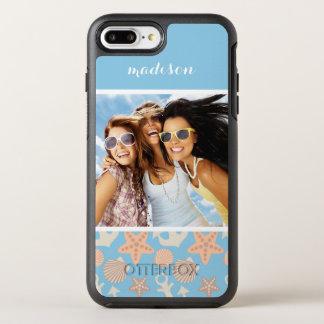 Pastel Nautical Pattern | Your Photo & Name OtterBox Symmetry iPhone 8 Plus/7 Plus Case