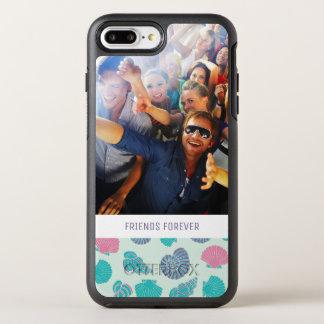 Pastel Nautical Pattern   Your Photo & Text OtterBox Symmetry iPhone 8 Plus/7 Plus Case